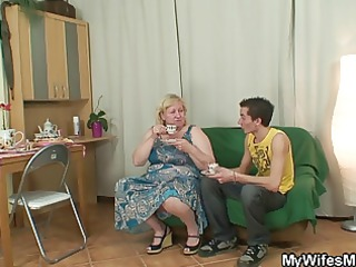 massive granny is team-fucked by her sons ally