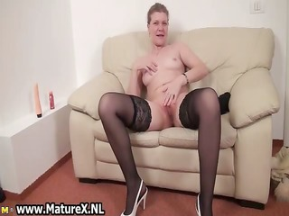 aged housewive is licking big part5