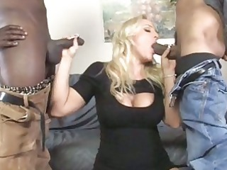 breasty mother i gets double team-fucked by blacks