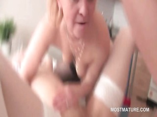 fuckfest older golden-haired nailed by legal age