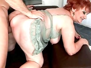 overweight grandma enjoying naughty sex
