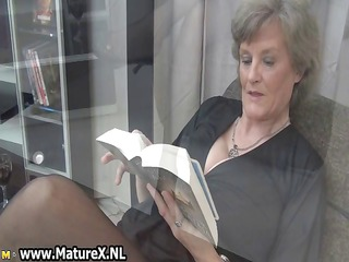 aged housewife in hot dark stockings part1
