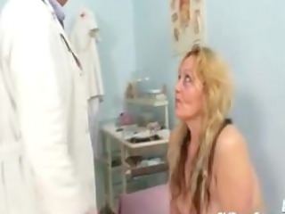 mature stazka gyno fetish real exam at kinky gyno