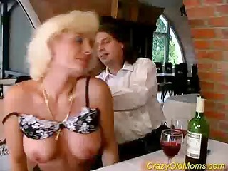 mad old mama receives drilled hard