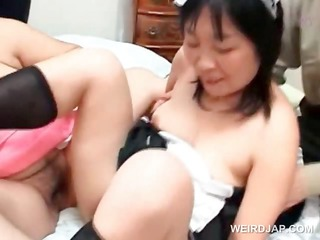 lusty asian aged maiden joining a hardcore orgy