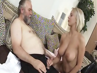 aged blonde mandy dee bounces her big love