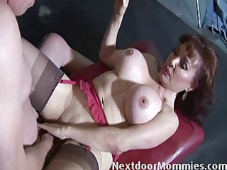 old boy sucked by an old large breasted woman