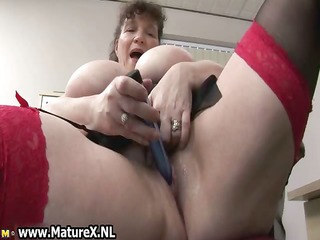 sexually excited fat older lady bonks
