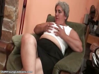 older blonde lesbian acquire horny making