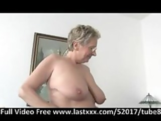 german granny acquires a pound on the ottoman