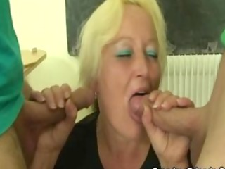 overweight granny teacher fucked all over the