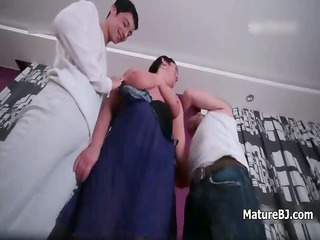 corpulent old aged wife loves sucking part8