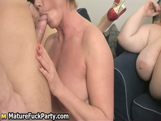 four chunky but lascivious older ladies getting