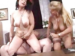 breasty matures sharing plump dude