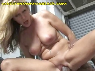 breasty blond mamma is blowing and banging a