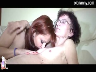 old older enjoying young cutie fingering