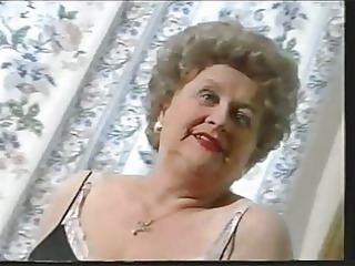 obese old granny teases in nylons